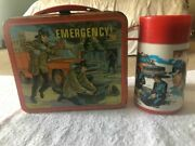 Vintage 1973 Emergency Tv Show Metal Lunchbox And Thermos