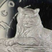 Russia 3 Roubles 2000 Protect Our World Series Snow Leopard Silver [2048