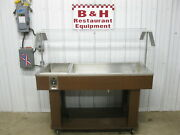 56 Cold Well Salad Bar Burrito Buffet Steam Table W/ Sneeze Guard Soup Warmer