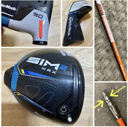 Tour Issue Taylormade Sim2 Max 9 Degree Driver Tour Model + Stamp W/ Headcover