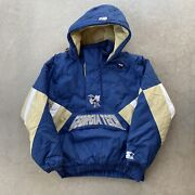 Vintage 90and039s Georgia Tech Starter Puffer Bomber Jacket L Blue Gold