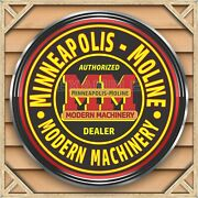 Minneapolis Moline Tractors Sign Remake Square Aluminum Sizes Up To 3and039 X 3and039