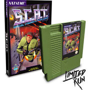 S.c.a.t. Special Cybernetic Attack Team Nes Limited Run Contra Esque New Green