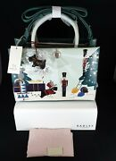 Radley Picture Christmas Little Drummer Boy Leather Multiway Grab Bag Bnwt