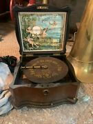 Vintage 1800and039s German Polyphon By Anglais. Disc Included