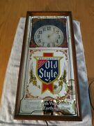 Vtg. Heilemanand039s Old Style Beer Light Up Illuminated Clock Sign Mirrored Picture