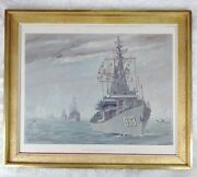 Us Navy Homecoming Of Destroyer Squadron 24 Print 15 By Joe De Thomas 4/8/66
