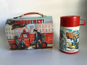 Emergency Squad 51 Tv Show Dome Top Vintage Aladdin Metal Lunch Box W/ Thermos