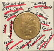 1912-s 10.00 Indian Head Gold Eagle-see Scans Been On Jewelry--a Bullion Valuex