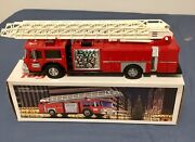 1986 Hess Fire Truck Bank Lights And Flasher All Working, In Original Box