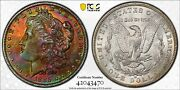 1885-o Morgan Silver Dollar Pcgs Ms 66+ Cac Moster Toned
