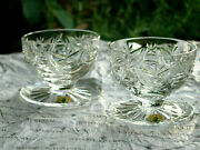 Waterford Crystal Clare Grapefruit / Dessert / Ice Cream Bowl Set Of 2 Brand New