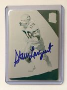 Signed Steve Largent 2019 Platesandpatches Spectra Printing Plate 1/1 Autographed