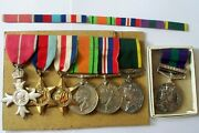 British Officers Mbe Wwii Group Of Medals Cyprus Maj. H.c.howell Signals D-day