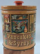 Vintage 1983 Aunt Jemimas Covered Quaker Oats Limited Edition Tin Pancakes Syrup