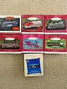 Hallmark Lionel Train Ornaments Lot Of 7 - 1996 Through 2002 With Boxes