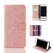 Bling Magnetic Flip Leather Wallet Stand Case Cover For Iphone 5 6s 7 8plus X