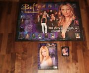 Buffy Completed Official Merlin 2001 Sticker Album With Wall Poster Buffy And Pack