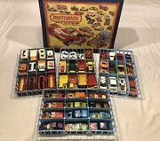 48 1970's-1980's Matchbox Superfast Cars And Trucks W/ Case And Trays