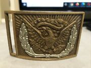 Civil War M1851 Type Belt Buckle Plate Nco Eagle Wreath Collector Condition