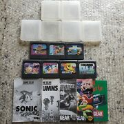 Game Gear Space Invaders Land Of Illusion Ariel Mermaid Pacman Sonic Manual Lot