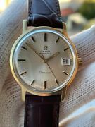 Omega Geneve Watch Solid Gold 18k 166.070 Automatic Cal.565 Mens 34.5mm Serviced