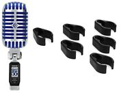 Windtech Cc-6 Mic Stand Cable Clips - 6 Pack + Shure Super 55 Deluxe