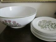 And Co By Johnson Brothers England Herbs Set Of 8 Salad Plate Serving Bowl