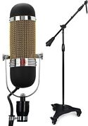 Aea R84a Active Ribbon Microphone + Ultimate Support Mc-125 Professional Studio