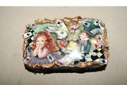 Russian Lacquer Box.alice In Wonderland. Hand Painted.