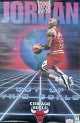 Vintage Sealed Michael Jordan Starline Poster 1996 Out Of This World22x34