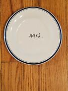 Rae Dunn Small Snack Farmhouse Blue Stripe Plates Snack. Replacement