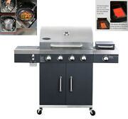 Top-grade 1pc Barbecue Oven Commercial Bbq Grill Home Grill Device Movable Usa