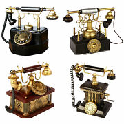 Vintage Style Dial Rotary Antique Telephone Model Classic Phones Model