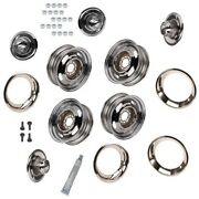 Gm Style Rally Wheels, Beauty Rings, Derby Caps, 5 On 4.75, Chrm.
