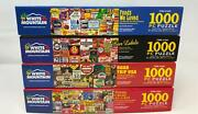 Lot Of Four 4 White Mountain 1000 Piece Puzzles - Complete