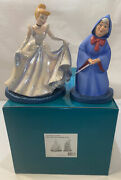 Wdcc Cinderella And Fairy Godmother A Magical Transformation Sculpture + Coa And Box