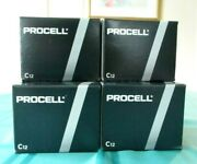 72 Duracell Procell C Alkaline Batteries 6 Boxes Of 12 Exp. March 2027new