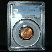 1949 Ireland 1/4 D ✪ Pcgs Ms-64-rb ✪ Farthing Feoirling Eire Harp Unc ◢trusted◣