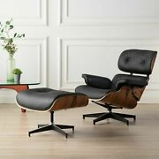 Classic Eams Lounge Chair And Ottoman Real Leather