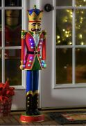 """Nutcracker Oversized Figurine With Color Changing Lights 35.82"""" Tall"""