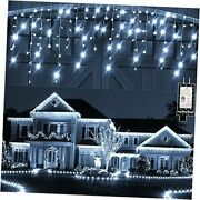 Christmas Lights Outdoor Decorations Icicle-lights 131ft 1280 Led Cool White