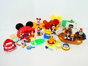 Disney Junior Mickey Mouse Clubhouse Camping Outdoors Pirate Ship Playset Boat