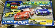 Scalextric Extended Digital Pit Lane Game 3 Car Triple Cup C1223 Brand New