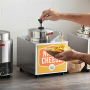 3.5 Qt. Countertop Electric Nacho Cheese Sauce Warmer With Heated Spout And Pump