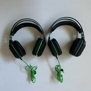 Two Razer Electra V2 Wired Usb Gaming Headset Black Clean Tested No Mics