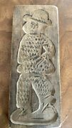 Antique Carved Wood Gingerbread Mold. 19th Century