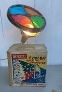 Vintage Imperial 4 Color Rotating Projector Wheel For Christmas Aluminum Tree