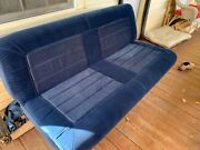 Original Vintage Navy Blue Chevy Van G20 Rear Seat And Fold Down Bed Ford Dodge