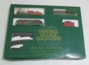 Dept. 56 Heritage Christmas Village Express Ho Scale Train And Track Set Nice